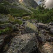 Mountain Landscape With A Creek Art Print