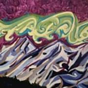 Mountain Lights Art Print