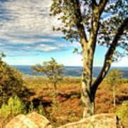 Mountain Overlook At High Point New Jersey Art Print