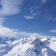 Mountain Panorama Lech Near St Saint Anton Am Arlberg Austria Art Print