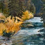 Mountain River Art Print by Rita Bentley