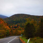 Mountain Road, Killington Vermont Art Print