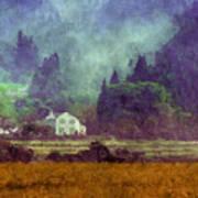 Mountain Valley Home Art Print