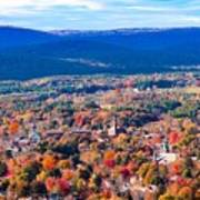 Mountain View Of Easthampton, Ma Art Print