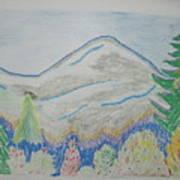 Mountain View.switzerland 1995 Art Print
