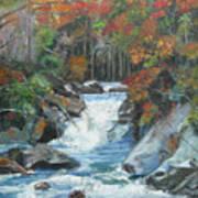 Mountain Waterfall Art Print