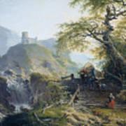 Mountainous Landscape Near Duesseldorf Art Print