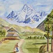 Mountains And Valley Art Print