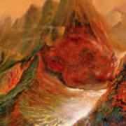 Mountains Fire Art Print