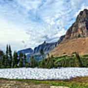 Mountains In Glacier National Park 2 Art Print