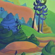 Hills In Spring Art Print