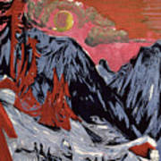 Mountains In Winter Print by Ernst Ludwig Kirchner