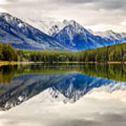 Mountains Reflected In The Lake Art Print