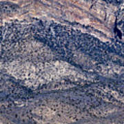 Mountainside Abstract - Red Rock Canyon Art Print