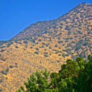 Mountainside From Wealthy Neighborhood Above Santiago-chile Art Print