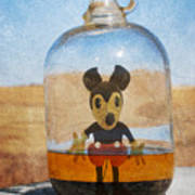 Mouse In A Bottle  Art Print