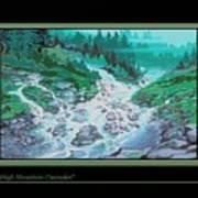 Moutain Cascades Art Print