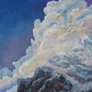 Moutain In The Clouds Art Print