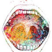 Mouth Anatomy Art Print