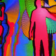 Human Movement In Color Art Print