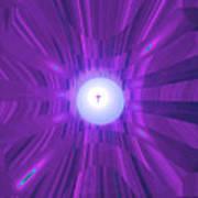 Moveonart Abstract Cross In Purple Art Print