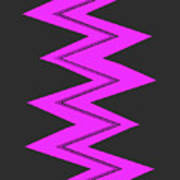 Moveonart Electricpurple Art Print