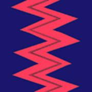 Moveonart Electricred Art Print