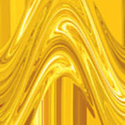 Moveonart Golden Light Wave Art Print
