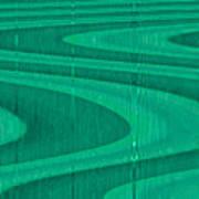 Moveonart Green Pathways 1 Art Print