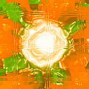 Moveonart Joy With Light In Orange Art Print