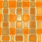 Moveonart Orange Bricks Art Print