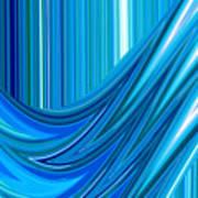 Moveonart The Blue Wave Art Print
