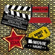 Movie Night-jp3613 Art Print