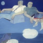 Mr And Mrs J L Butler Flying Over The Atlantic Art Print