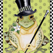 Mr. Beau Frog Art Print
