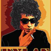 Bob Dylan American Music Legend Art Print