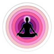 Meditation With Yoga Art Print