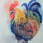 Mr Rooster Art Print