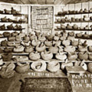Mrs. Butts Mortar And Pestle Collection Found In San Benito Co. Art Print