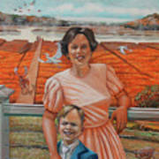 Mrs. Curry And Son Art Print