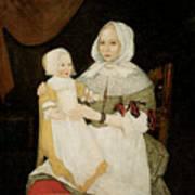 Mrs. Elizabeth Freake And Baby Mary Art Print