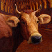 Mrs. O'leary's Cow Art Print by James W Johnson