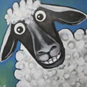 Mrs Sheep Art Print