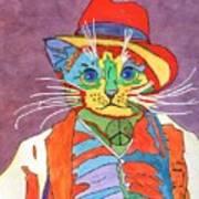 Mr.wisker For Peace Art Print
