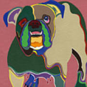 Ms Diva The English Bulldog Art Print