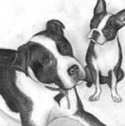 Ms Proutys Dogs Art Print