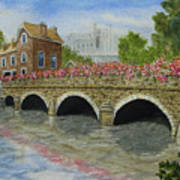 Ms23 French Stone Bridge  Art Print