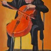 Mstislav Leopoldovich Rostropovich Art Print by Kostas Koutsoukanidis