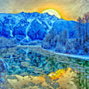 Mt Currie Fantasy Art Print