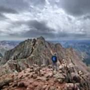 Mt Eolus And The Catwalk From North Eolus - Chicago Basin - Weminuche Wilderness - Colorado Art Print